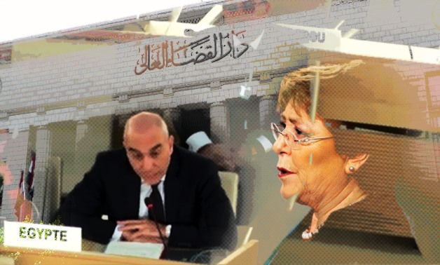 Speaking before the UN Human Rights Council, Egypt's ambassador to the UN Alaa Youseef addressed Bachelet's claims and comments – Photo compiled by Egypt Today staff