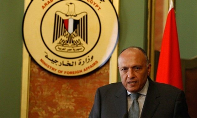 FILE- Egyptian Minister of Foreign Affairs Sameh Shoukry