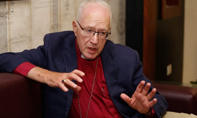 Lord Carey during the interview in July 2018 at All Saints' Anglican Cathedral - Karim Abdul Aziz