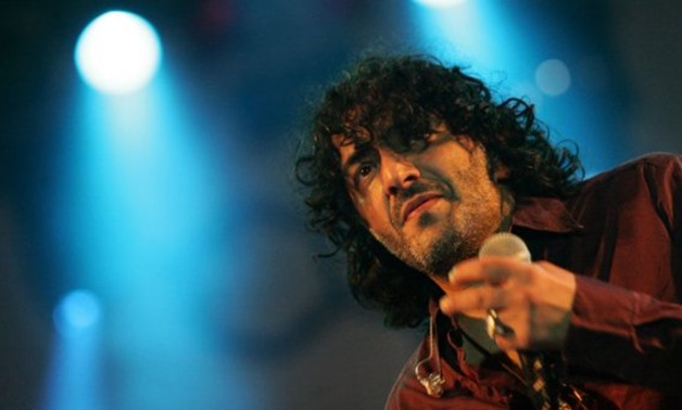 Attila Kisbenedek, AFP | Rachid Taha performs at the Hajogyar Shipyard Island festival in Hungary on August 10, 2007.