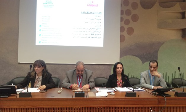 The panel of the seminar on women's rights - Egypt Today