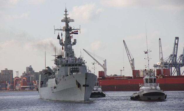 Egyptian and Pakistani naval forces conducted on Thursday drills in the Mediterranean Sea- press photo