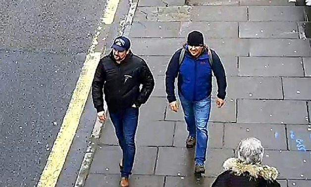 Ruslan Boshirov and Alexander Petrov seen walking in Salisbury on March 4 in a handout picture provided by the Metropolitan Police Service
