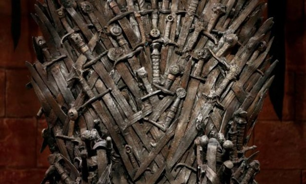 FILE PHOTO: The Iron Throne is seen on the set of the television series Game of Thrones in the Titanic Quarter of Belfast, Northern Ireland, June 24, 2014. REUTERS/Phil Noble/File Photo.
