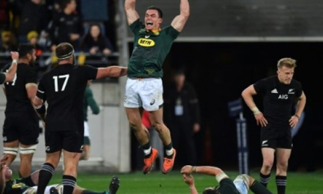 © AFP | South Africa's Jesse Kriel enjoyed the victory over the All Blacks