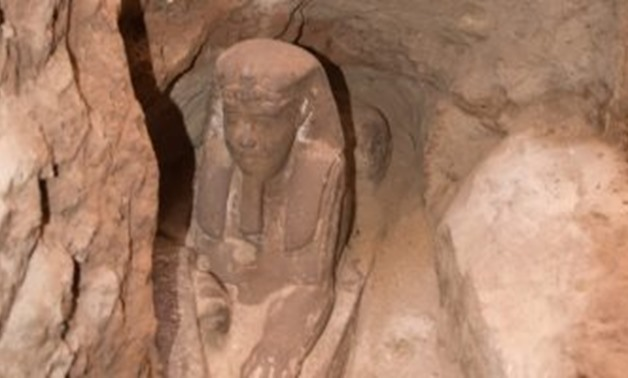 A sphinx statue made of sandstone was discovered in Aswan by the Egyptian archaeological mission working on the project of reducing the groundwater level in the Temple of KomOmbo - Egypt Today.