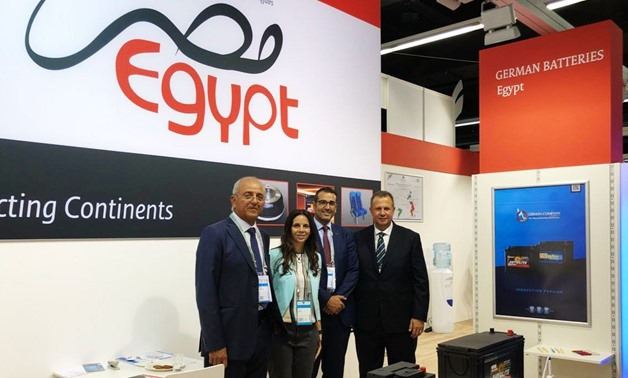 Part of the Egyptian delegation in the exhibition – Press photo