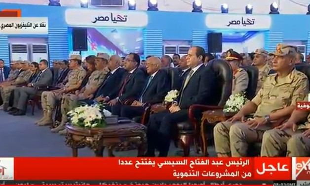 Sisi inaugurate Wednesday a military hospital in Menoufia governorate to serve both civilians and military personnel - Screen shot from Extra news channel