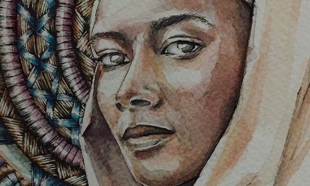 Aya el-Emam tries through her paintings to shed light on the uniqueness of African women's beauty-by Aya el-Emam
