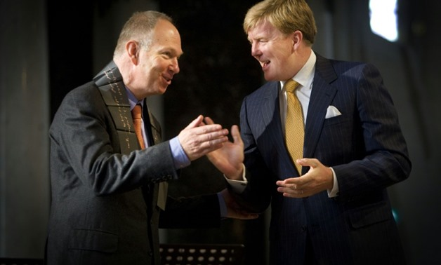 "Ian Buruma (l), seen here being handed a prize by Dutch Crownprince Willem-Alexander in 2008, ""is no longer the editor"" of the New York Review of Books-ANP/AFP/File / ROBIN UTRECHT"