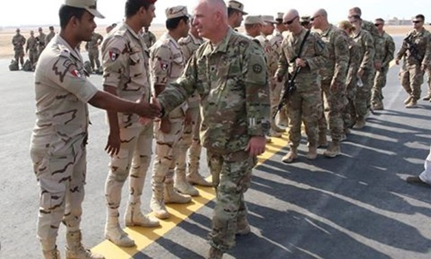 Egyptian-American armed forces participating in the Bright Star 2017 trainings, Sept. 10, 2018 - Photo courtesy of the official Facebook page of the Armed Forces spokesperson