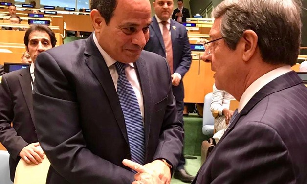 Sisi meets Cypriot president in New York