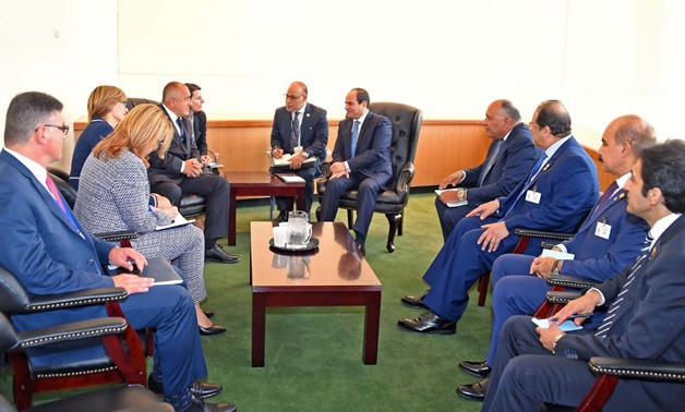 Sisi meets Bulgarian PM on boosting bilateral relations