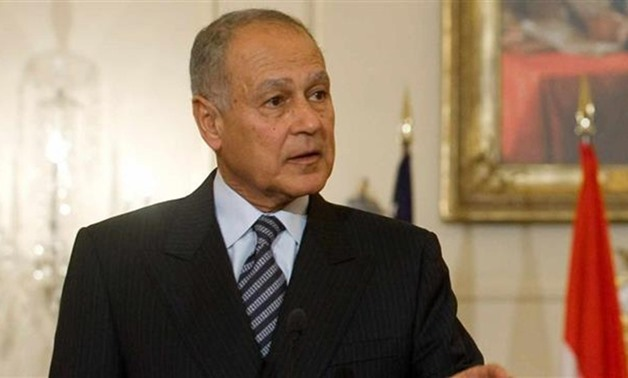 FILE- Arab League (AL) Secretary-General Ahmed Abul Gheit