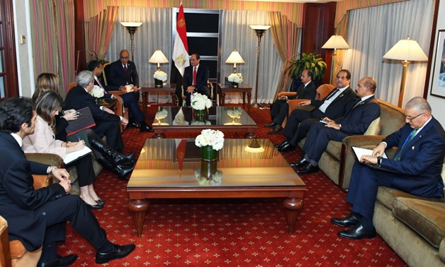 Sisi asserts Egypt's interest in boosting cooperation with Boeing Company