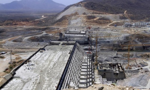 A general view of Ethiopia's Grand Renaissance Dam, as it undergoes construction, is seen during a media tour along the river Nile in Benishangul Gumuz Region, Guba Woreda, in Ethiopia March 31, 2015. AFP.