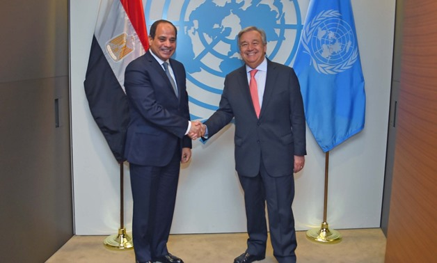 Sisi meets with UN secretary-general on sidelines of UNGA