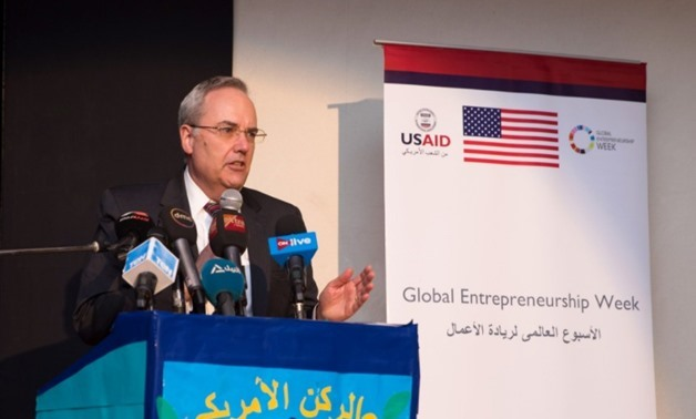 Thomas H. Goldberger, Chargé d'Affaires of the U.S. Embassy        in Cairo - photo courtesy of US Embassy Cairo Twitter account