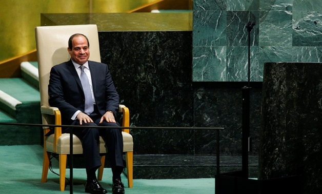 Sisi gives 3rd speech in Paris Climate Change Agreement meeting