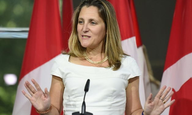 Canadian Foreign Minister Chrystia Freeland postponed her scheduled speech to the UN General Assembly on Saturday to focus on NAFTA negotiations