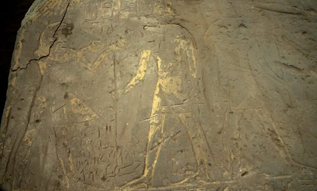 An Egyptian archaeological mission working at the Kom Ombo Temple in Aswan discovered on Sunday two ancient paintings made up of sandstone - Ministry of Antiquities Official Facebook Page.