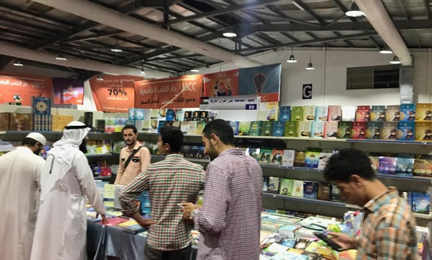 Egyptian novels and religious and political studies at the Egyptian pavilion of the Amman International Book Fair - Press Photo