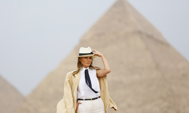U.S. First Lady Melania Trump visits the Pyramids of Giza- Egypt Today/Karim Abdel-Aziz