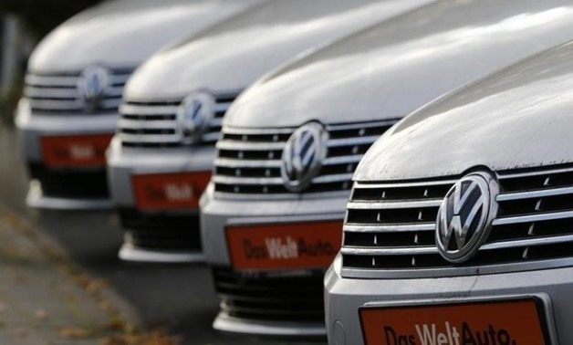 Volkswagen cars are lined up for sale at a car shop in Bad Honnef near Bonn, Germany. REUTERS-Wolfgang Rattay