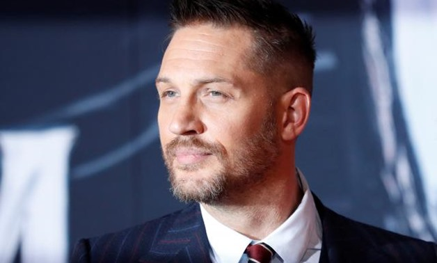 "FILE PHOTO: Cast member Tom Hardy attends the premiere for the movie ""Venom"" in Los Angeles, California, U.S., October 1, 2018. REUTERS/Mario Anzuoni."