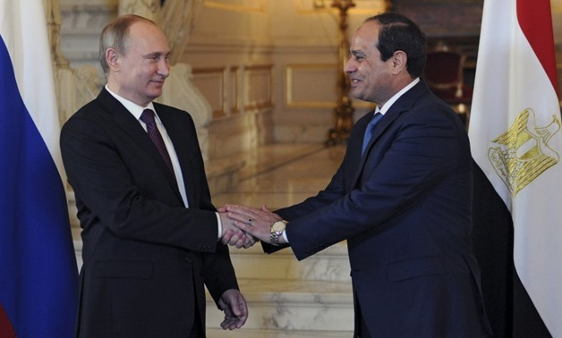 FILE- Egyptian President Abdel Fatah al-Sisi and his Russian counterpart Vladimir Putin – Press photo