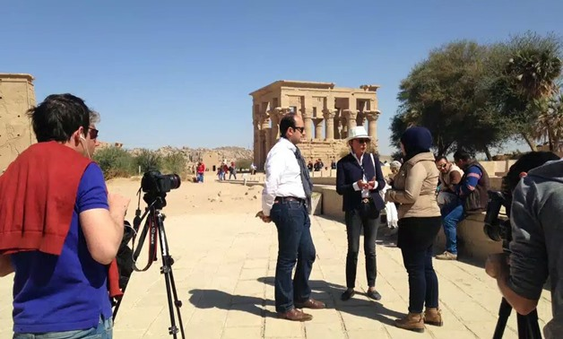 Foreign media delegations visiting archaeological sites in Aswan - Egypt Today