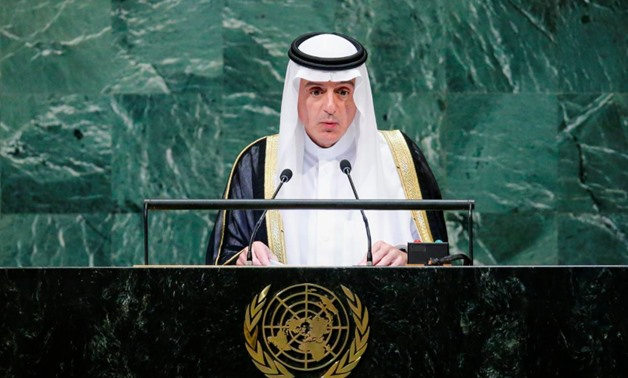 FILE PHOTO: Saudi Arabia's Foreign Minister Adel Ahmed al-Jubeir addresses the 73rd session of the United Nations General Assembly at U.N. headquarters in New York, U.S., September 28, 2018. REUTERS/Eduardo Munoz
