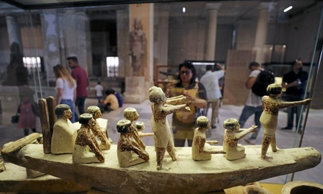 Ancient Egyptian artifacts, that were recently returned from Italy, are seen on display at the Egyptian Museum in Cairo, Egypt July 4, 2018. REUTERS/Mohamed Abd El Ghany