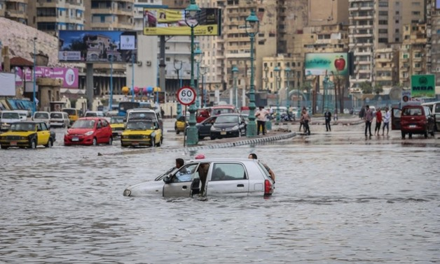 FILE – Floods that took place in Alexandria, October, 2015