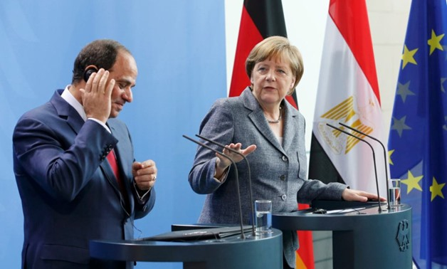 Joint press conference for Egyptian President Abdel Fattah al-Sisi and German Chancellor Angela Merkel on June 3, 2015. Reuters photo