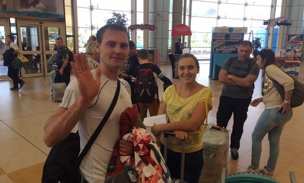 Russian tourists arrive in Sharm el-Sheikh International Airport Oct. 29, 2018 - Egypt Today