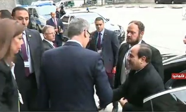 President Abdel Fatah al-Sisi arrived the Second Summit on German-African - Screen Shot from Extra news