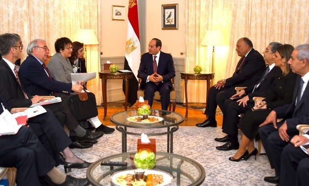 President al-Sisi meeting German companies Presidency - Press photo