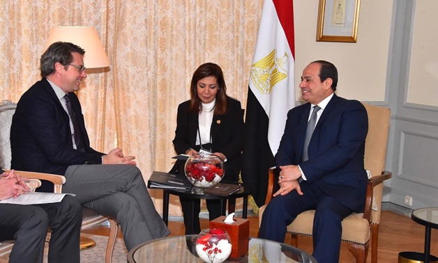 President Sisi (R) meets with the German Transport Minister Andreas Scheuer (L) on October, 31, 2018 – Press photo