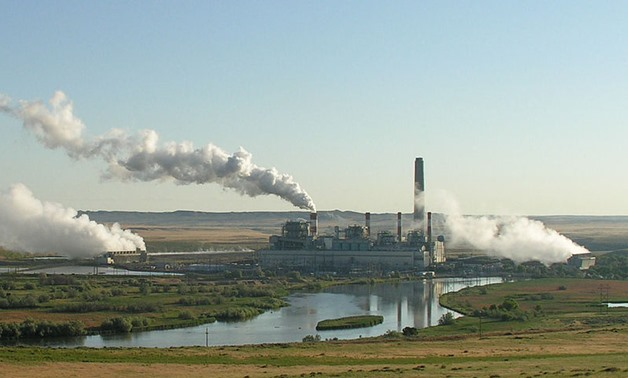 FILE - Dave Johnson coal-fired power plant, central Wyoming – Wikimedia/Greg Goebel