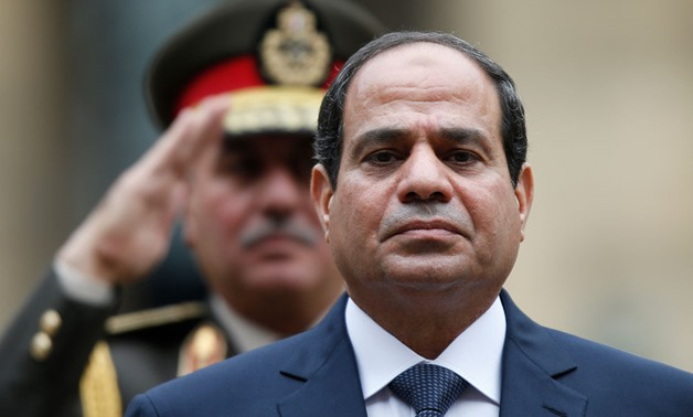 President Abdel Fattah al-Sisi says the military can deliver large, complicated projects faster than the private sector. Sisi is seen here during a visit to Paris in Nov. 2014. REUTERS