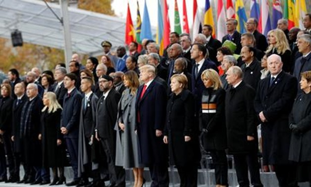 World leaders hold solemn ceremony in Paris to mark WW1 Armistice centenary