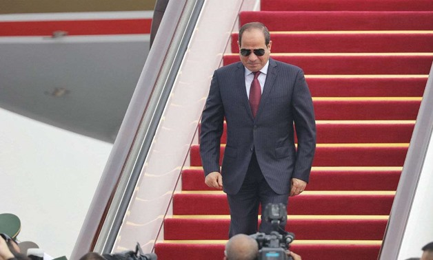 FILE - Egyptian President Abdel Fattah al-Sisi arrives at Beijing International Airport before the Forum on China-Africa Cooperation (FOCAC), September 1 – Reuters