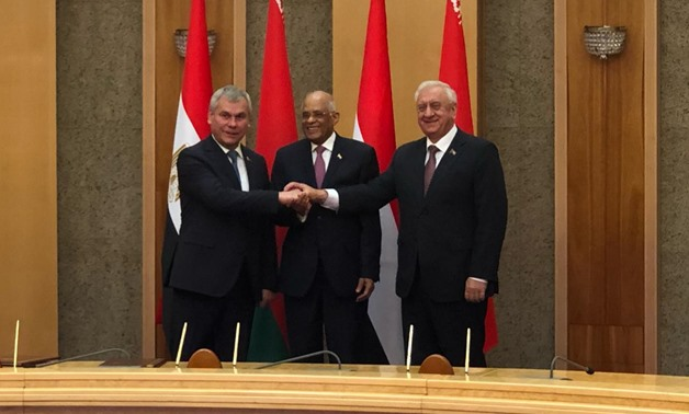 Egypt and Belarus signed here on Thursday a cooperation agreement to develop parliamentary relations - Press photo