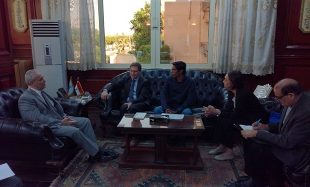 Luxor Governor Mostafa Alham discussed on Thursday with French Consul General in Cairo François Pugeaut, who is currently visiting the governorate, means of future cooperation - press photo