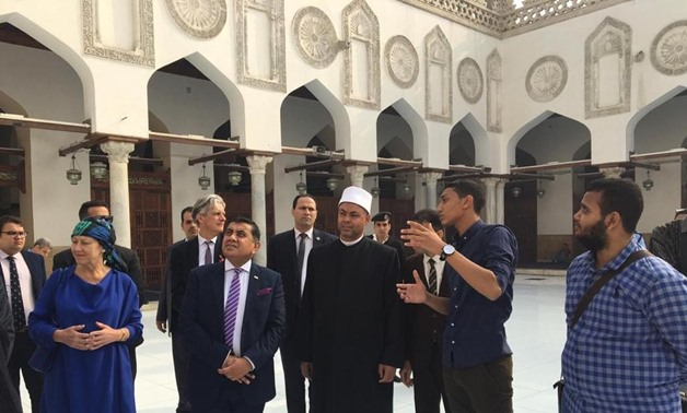 Minister of State and the Prime Minister's Special Envoy on Freedom of Religion or Belief Lord (Tariq) Ahmad of Wimbledon signed a Memorandum of Understanding (MOU) with Undersecretary of Al-Azhar Saleh Abbas Saleh - Press photo