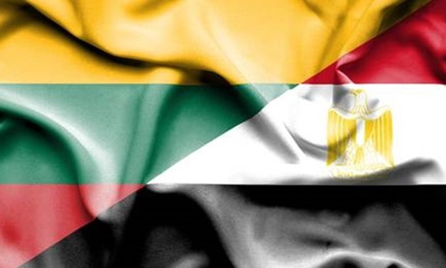 Egypt and Lithuania flags