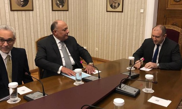 Egyptian Foreign Minister SamehShoukry met Thursday with the Bulgarian President Rumen Radev in Sofia - Press photo