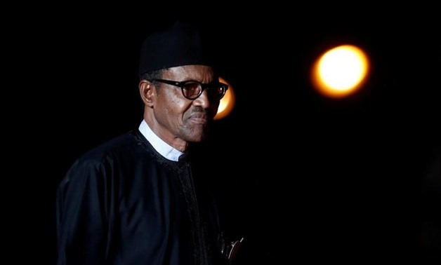 Nigeria's President Muhammadu Buhari arrives to attend a visit and a dinner at the Orsay Museum on the eve of the commemoration ceremony for Armistice Day, 100 years after the end of the First World War, in Paris, France, November 10, 2018. REUTERS/Benoit