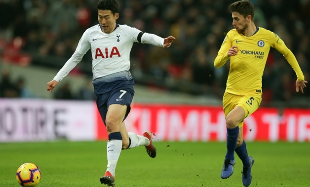 Son Heung-Min raced past Jorginho on his way to a superb goal as Tottenham beat Chelsea